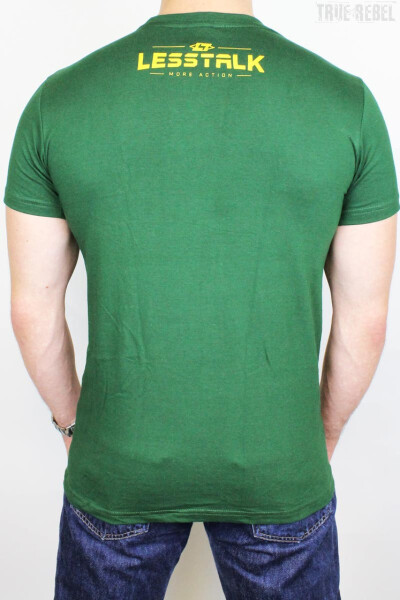 Less Talk T-Shirt Icon Bottle Green