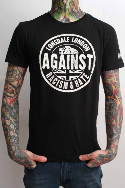 Lonsdale T-Shirt Against Racism Regular Fit Black
