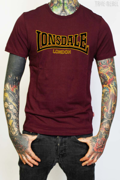 Lonsdale T-Shirt Classic Slim Fit Oxblood