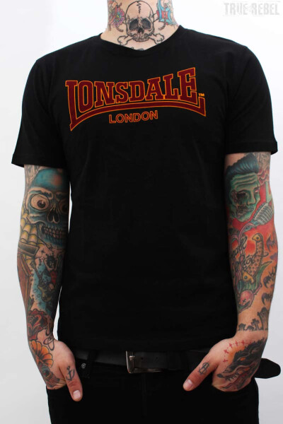 Lonsdale T-Shirt Classic Slim Fit Black