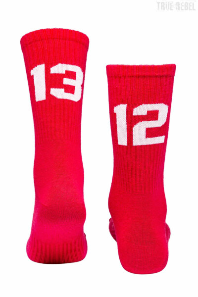 Sixblox. Socks 1312 Red White
