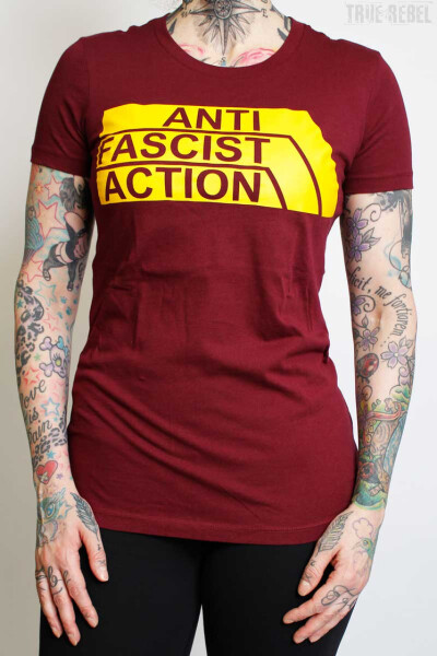 True Rebel Ladies Shirt AFA 2.0 Burgundy