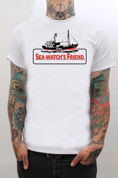 True Rebel T-Shirt Sea Watch White