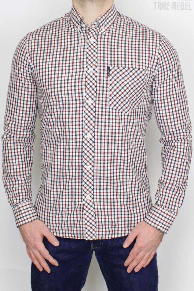 Ben Sherman Shirt LS Signature House Check Red