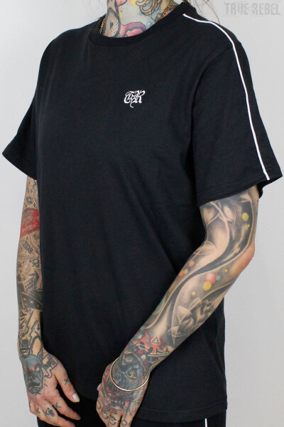 True Rebel T-Shirt TR Piped Black