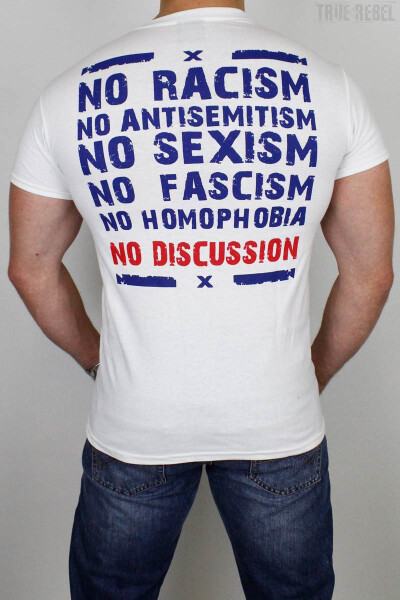 True Rebel T-Shirt No Discussion White