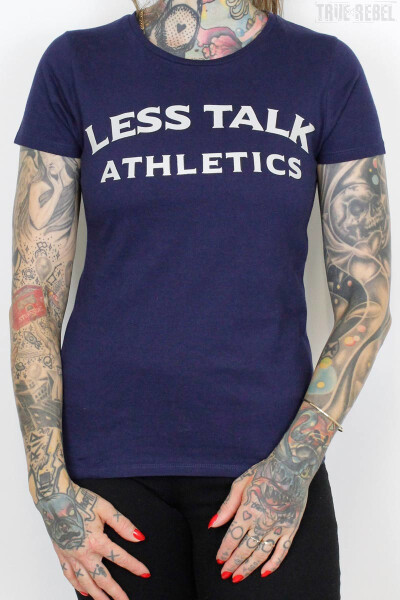 Less Talk Ladies Shirt Athletics Navy
