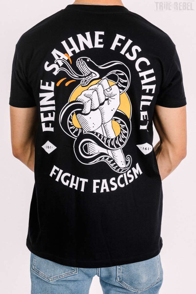 Feine Sahne Fischfilet T-Shirt Fight Fascism Black