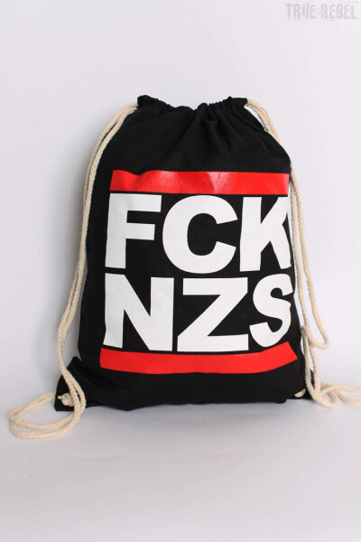 True Rebel Gymbag FCK NZS Black