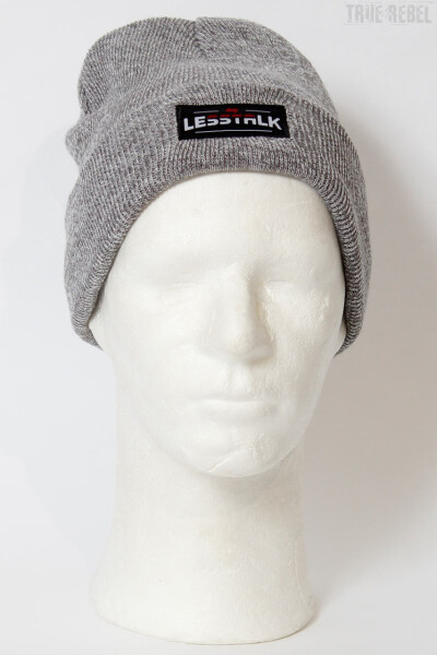 Less Talk Beanie Logo Grey