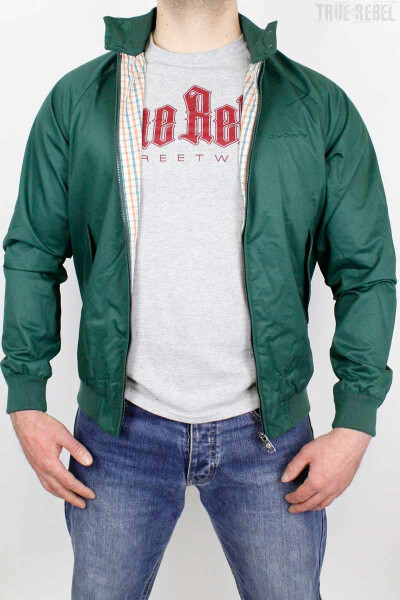 Ben Sherman Jacket Harrington Signature Trekking Green