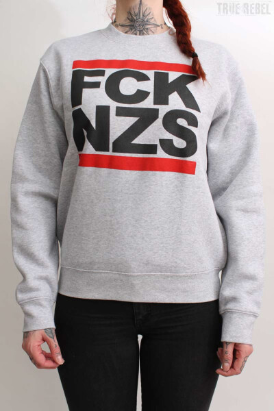 True Rebel Sweater FCK NZS Grey