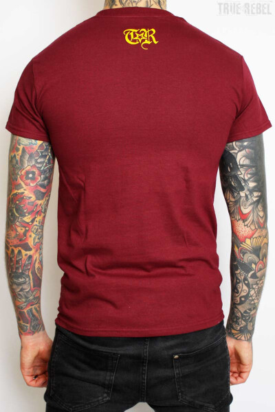 True Rebel T-Shirt AFA 2.0 Burgundy