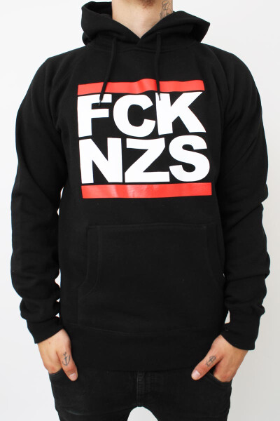 True Rebel Hoodie FCK NZS Black
