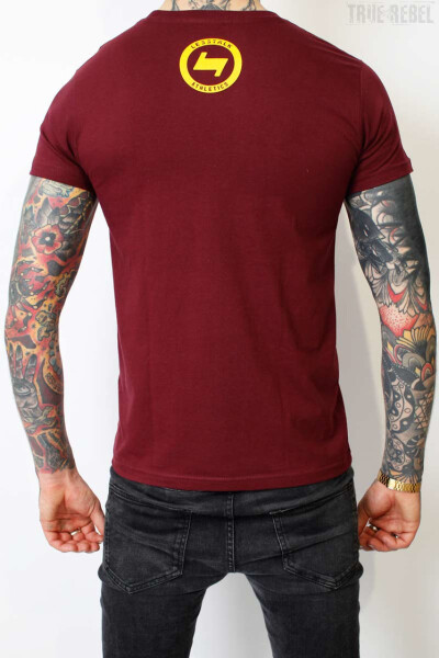 Less Talk T-Shirt Boxer Burgundy