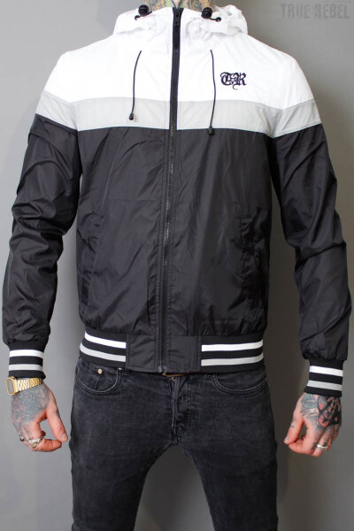 True Rebel Windbreaker College TR Black/White/Grey