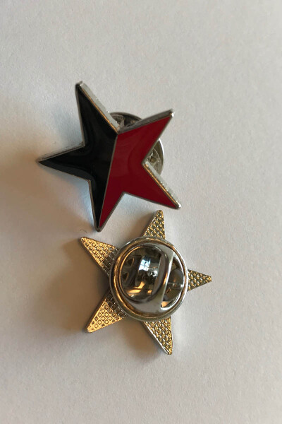 Pin SchwarzRoter Stern
