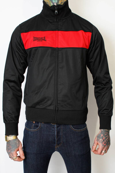 Lonsdale Tricot Jacket Alnwick Black/Red